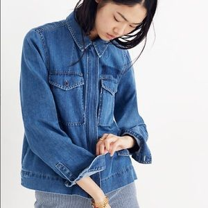 Madewell Denim Army Swing Jacket